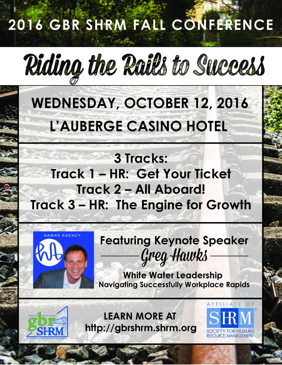 Gbr Shrm Fall Conference Riding The Rails To Success